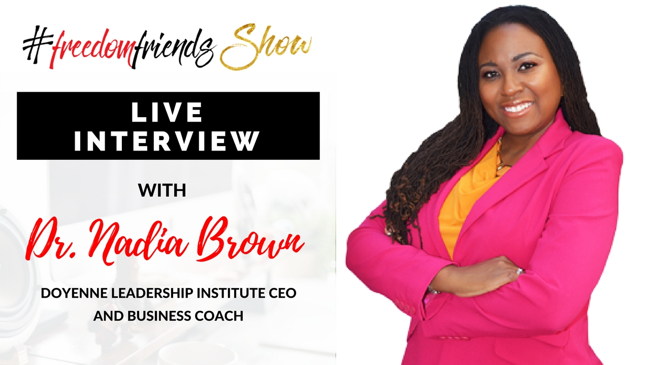 LIVE Interview with Dr. Nadia Brown