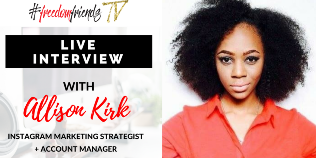 Live Interview with Miss Allison Kirk